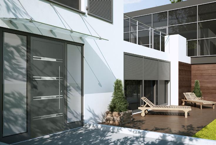 drzwi zewnętrzne aluminiowe Aluprof