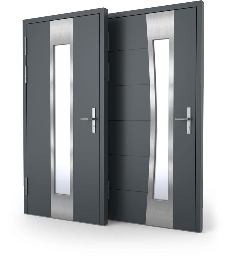 drzwi zewnętrzne aluminiowe nakładkowe