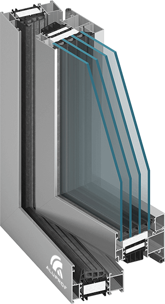 okna aluminiowe MB86SI Aluprof