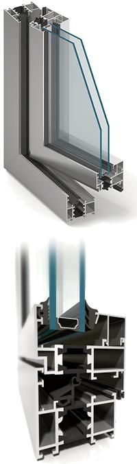 okna aluminiowe Aluprof MB60